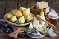 Картинка Сыр, черника, мед, honey, груши, blueberry, pears