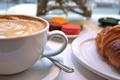 Картинка кофе, завтрак, круасан