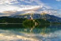 Картинка лес, горы, природа, озеро, замок