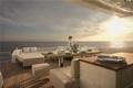 Картинка закат, океан, вечер, яхта, ужин