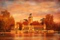 Картинка небо, парк, Испания, холст, монумент, Мадрид