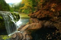 Картинка лес, природа, река, камни, фото, водопад, Вашингтон