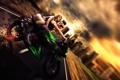 Картинка девушка, мотоцикл, парень