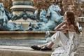Картинка девушка, поза, фон, Madison Stubbington