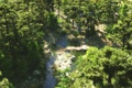 Картинка лес, деревья, река, ручей, камни, арт, вид сверху