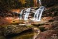 Картинка осень, лес, пейзаж, природа, река, краски, водопад