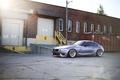 Картинка бмв, BMW, silver, серебристая, гаражи