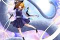 Картинка девушка, змея, жест, touhou, art, moriya suwako, rihito