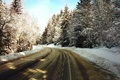 Картинка зима, дорога, снег, деревья, природа, фото, дороги