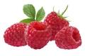Картинка листья, еда, малина, ягоды