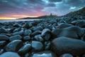 Картинка пейзаж, Dunstanburgh Castle, море