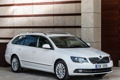 Картинка универсал, Škoda, шкода, белый, Superb, Combi