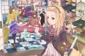 Картинка краски, картина, аниме, девочка, творчество, художница
