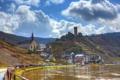 Картинка Bruttig-Fankel, город, река, побережье, Германия, фото, облака