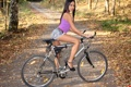 Картинка девушка, брюнетка, bike