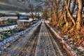 Картинка зима, HDR, дорога