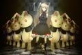 Картинка девушка, игрушки, кролики, vocaloid, вокалоид, art, серьезность