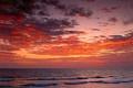 Картинка облака, волны, море