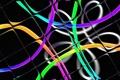 Картинка квадрат, линии, свет, лента, цвет