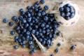 Картинка ягоды, стол, черника, ложка, голубика