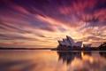Картинка город, утро, Австралия, Сидней, оперный театр