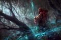Картинка лес, посох, diablo 3, monk, reaper of souls