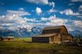 Картинка USA, природа, горы, Grand Tetons, Wyoming, ферма
