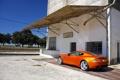 Картинка Aston Martin, Оранжевый, День, Астон, Здание, Купэ, Stratus