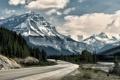 Картинка дорога, горы, Природа, изгиб