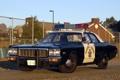 Картинка небо, фон, Полиция, Додж, Dodge, седан, классика