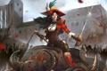 Картинка девушка, перо, робот, шляпа, арт, шпага, Steampunk