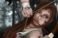 Картинка взгляд, девушка, игра, лук, арт, стрела, Tomb Raider