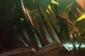 Картинка листья, арт, паутина, джунгли