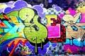 Картинка стена, графити, yes