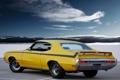 Картинка небо, облака, мускул кар, вид сзади, Muscle car, GSX, Buick