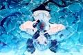 Картинка вода, девушка, пузыри, рыбка, арт, vocaloid, вокалоид