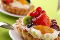 Картинка еда, клубника, пирог, крем, десерт, ежевика, сладкое