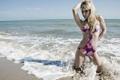 Картинка море, девушка, Jessica Garcia