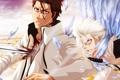 Картинка кровь, bleach, anime, art, aizen sousuke, Sosuke Aizen, toshiro hitsugaya