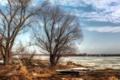 Картинка природа, река, лёд, весна