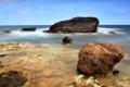 Картинка дно, Камни, вода, море