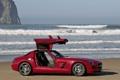 Картинка волны, красный, океан, Mercedes-Benz, SLS AMG