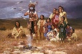 Картинка painting, Arizona Resident Howard Terpning®, живопись, картина, The Shaman and His Magic Feathers