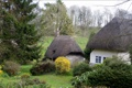 Картинка природа, город, фото, Англия, дома, ель, деревня
