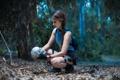 Картинка лес, взгляд, девушка, череп, Tomb Raider, косплей, cosplay