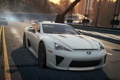 Картинка дорога, мост, город, гонка, need for speed most wanted 2012, Lexus LFA