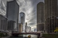 Картинка Река, Чикаго, Небоскребы, Здания, Америка, Иллинойс, Chicago