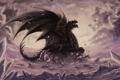 Картинка фантастика, дракон, крылья, арт, пасть, хвост