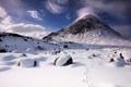 Картинка зима, снег, камни, гора