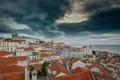 Картинка Lisbon, здания, Portugal, бухта Мар-да-Палья, побережье, панорама, Португалия